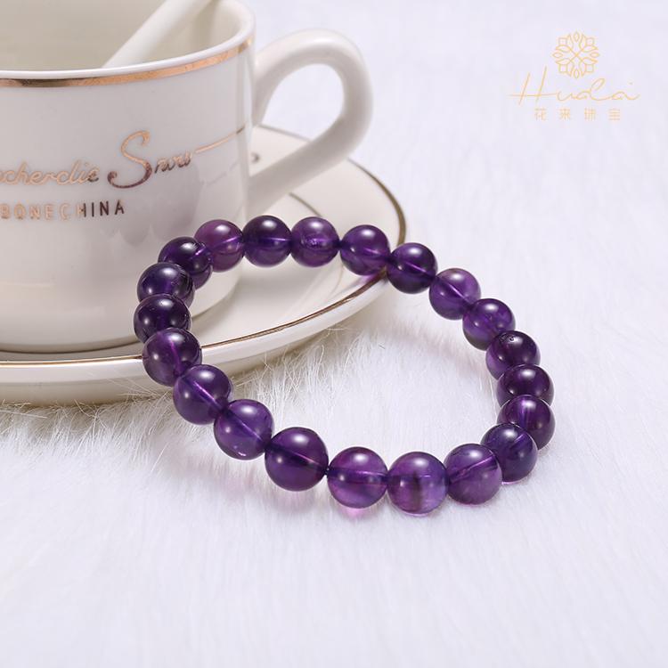 紫水晶单圈珠宝手链 情侣闺蜜礼物春夏新品时尚百搭学生水晶手串