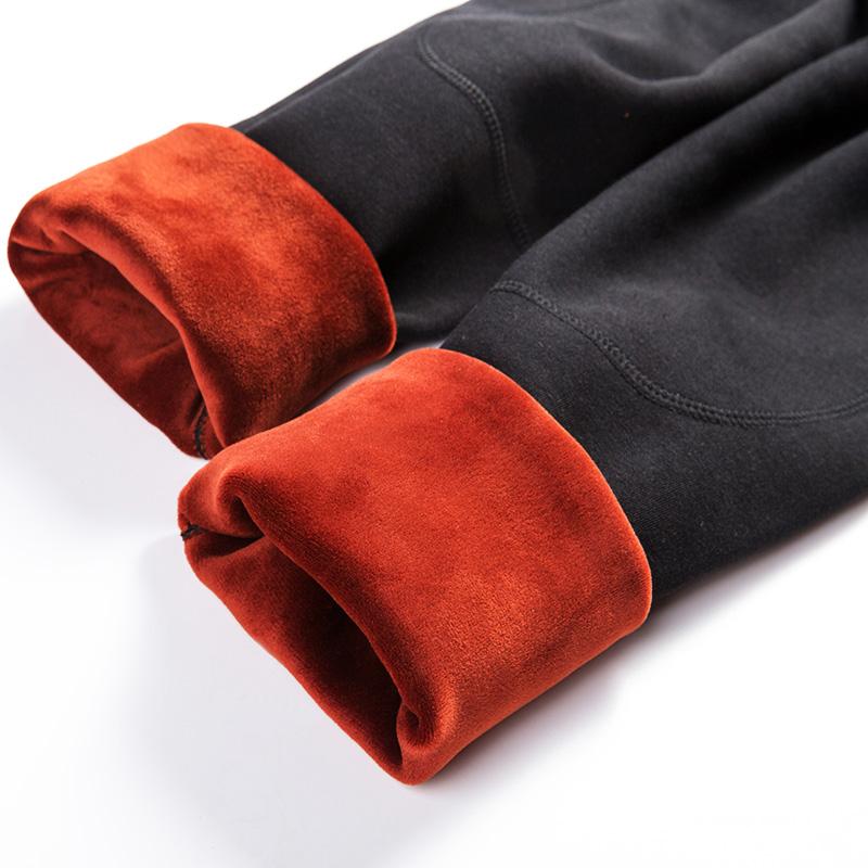 男士保暖裤加厚加绒中腰棉裤男弹力绒裤毛裤大码单件内穿打底裤冬