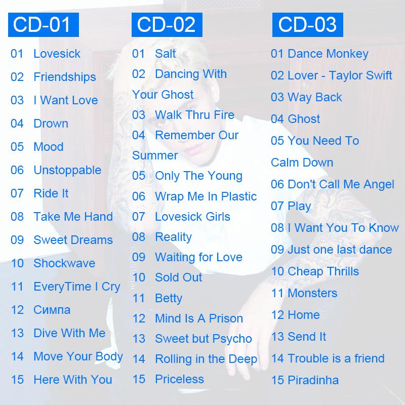 欧美流行无损英文歌曲CD碟片