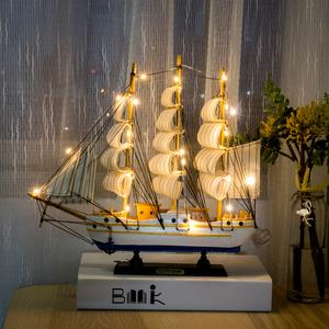 家居创意工艺装饰品帆船摆件结婚礼物电视酒柜卧室客厅办公桌摆设