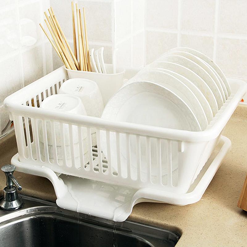 厨房放碗架 塑料用品沥水滴水碗碟架碗筷收纳置物架收纳盒收纳篮