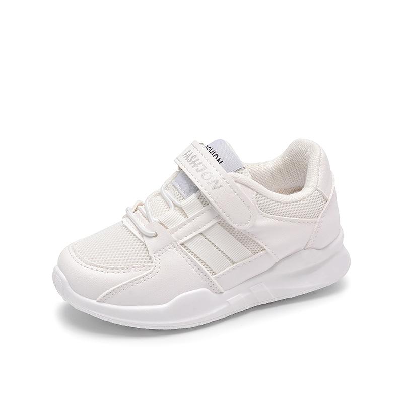 秋季新款韩版童鞋男童网面运动鞋女童白鞋潮 2018 儿童小白鞋运动鞋