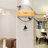 Watch the living room wall clock quartz clock creative modern minimalist Nordic atmospheric mute personalized home fashion watches