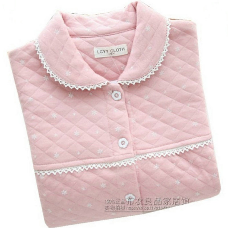 天天特价秋冬女纯棉空气层夹棉保暖睡衣家居服亲子款儿童长袖套装
