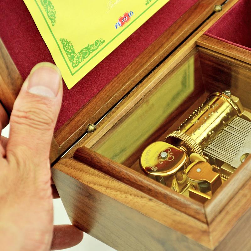 音音乐盒八音盒创意送女友浪漫七夕情人节生日礼物 sankyo30 胡桃木
