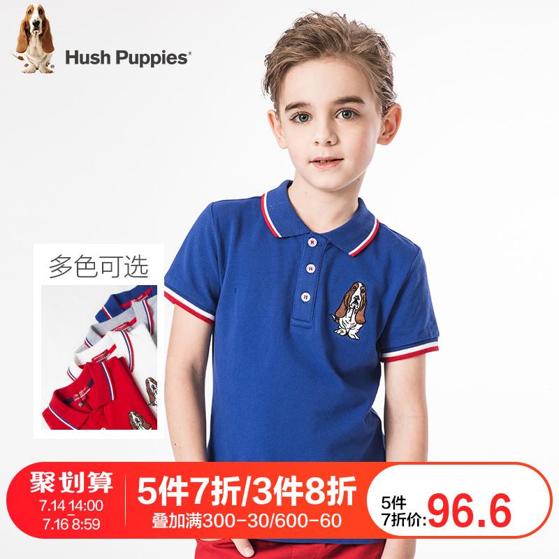 暇步士童裝男童兒童短袖t恤2019新款純棉中大童上衣寶寶夏裝polo