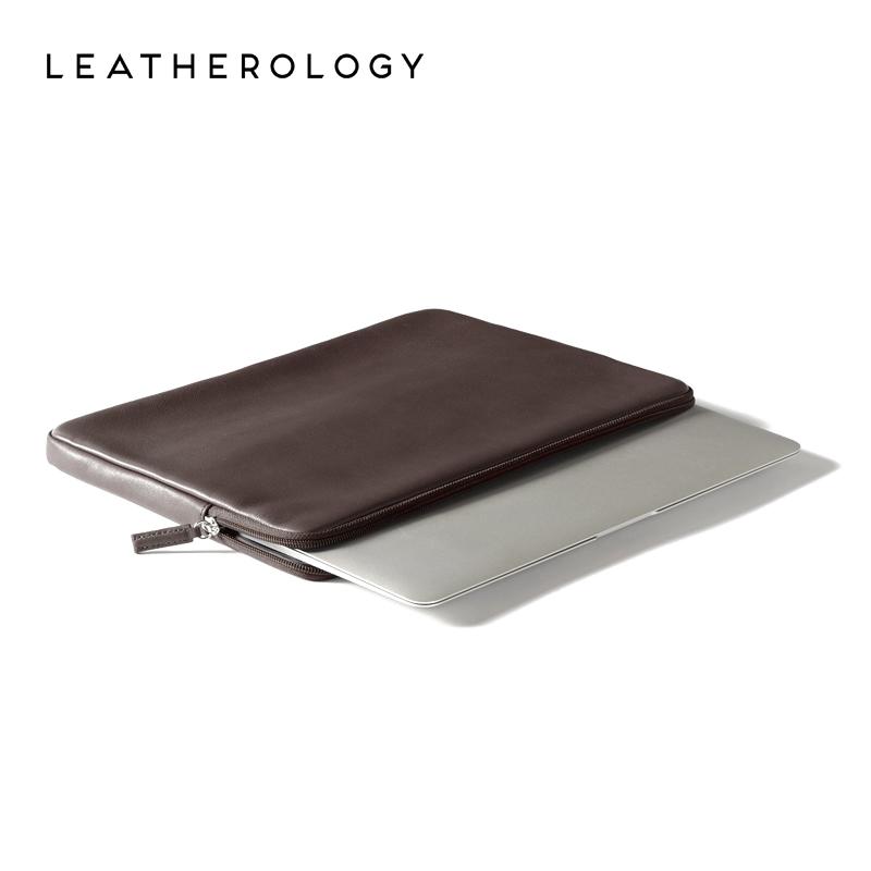 Leatherology牛皮苹果13寸电脑包苹果笔记本内胆包电脑保护套皮套