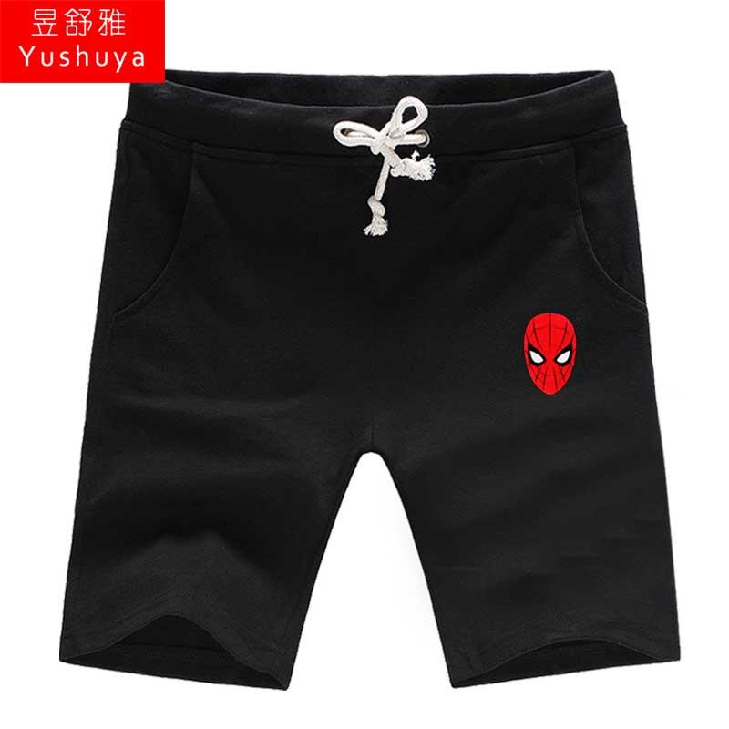 电影蜘蛛侠英雄远征周边短裤男士五分裤子荷兰弟休闲裤夏5分卫裤