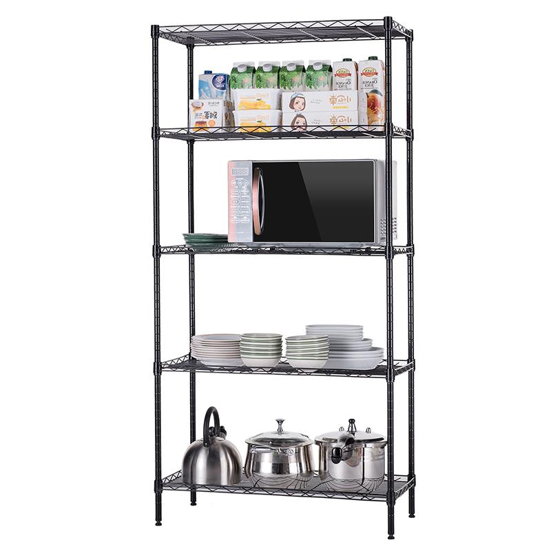 厨房置物架落地多层收纳架家用不锈钢用品锅碗架调料架储物架架子