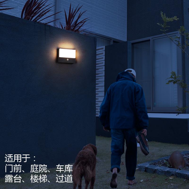户外防水室外大门口过道楼梯楼道感应灯 LED 现代家用人体感应壁灯