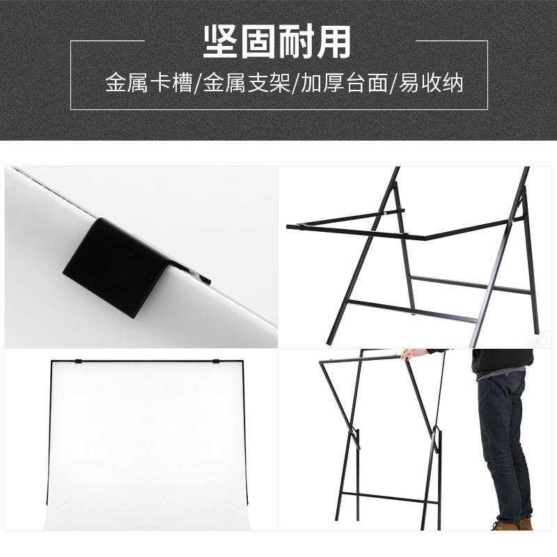 60*100CM新型专业摄影台折叠式摄影棚静物淘宝化妆品饰品拍照桌子产品拍摄工作台倒影板