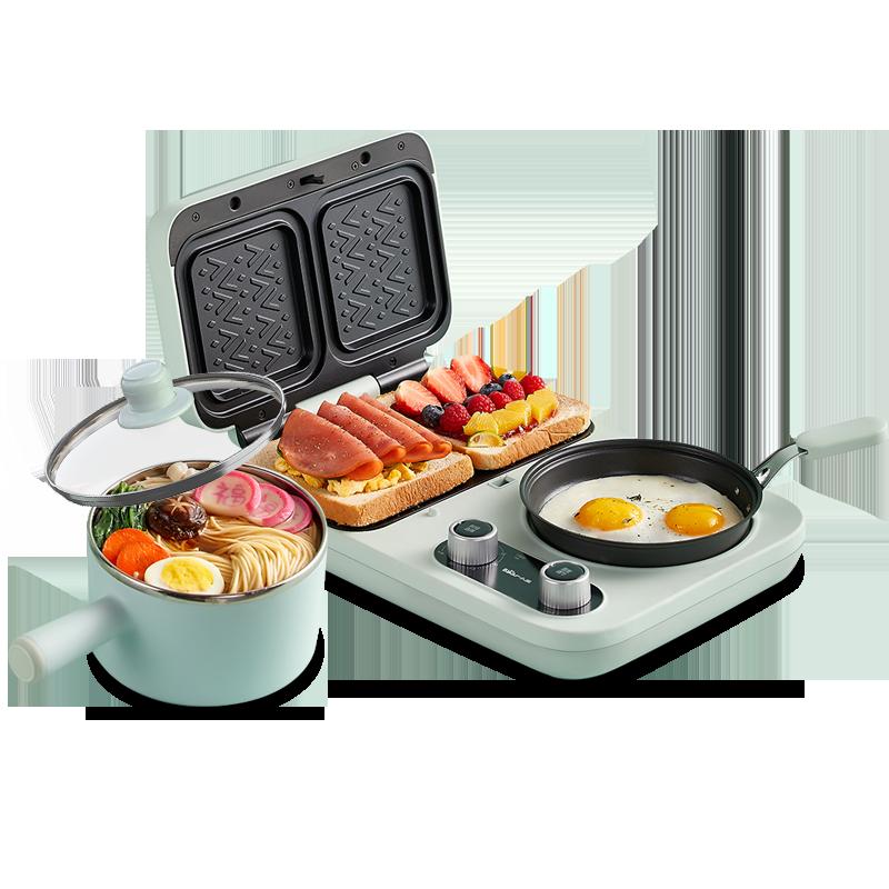 小熊三明治早餐机家用小型多功能轻食华夫饼机吐司压烤面包机神器主图