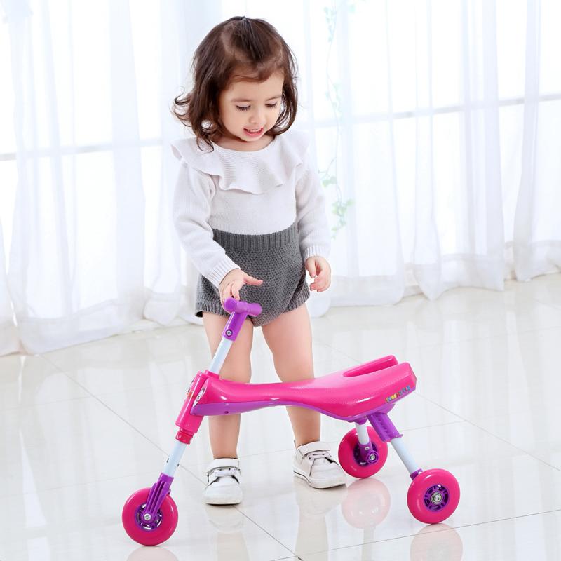飞虎Tiger儿童三轮车宝宝学步车螳螂车1-4岁mini扭扭车1周岁礼物