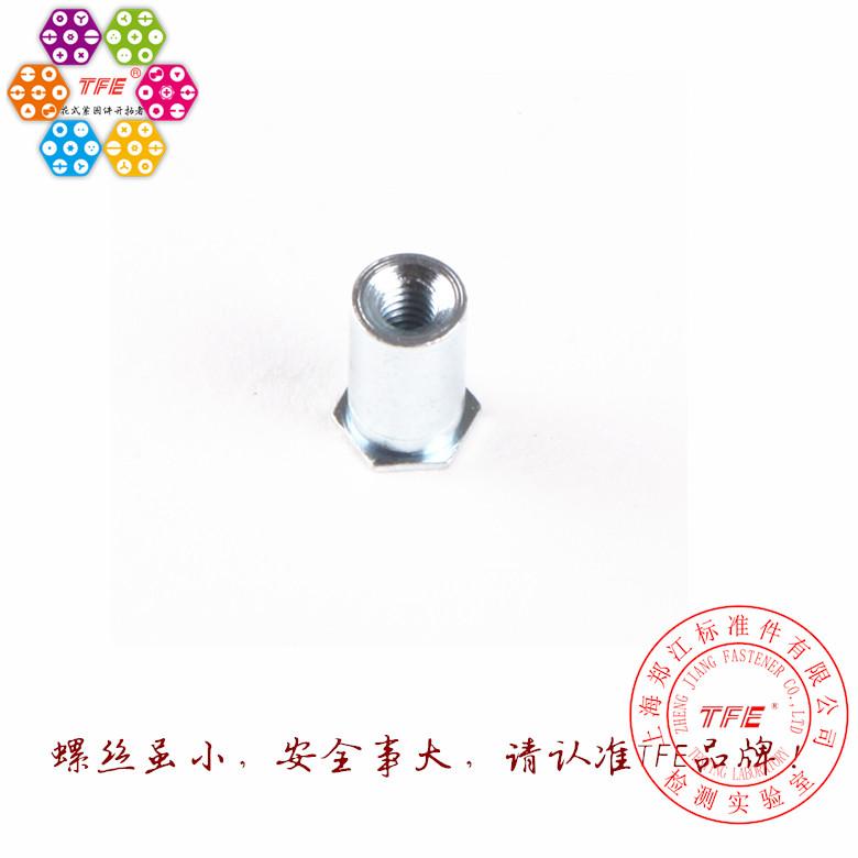 【M2*5-M2-20】碳钢盲孔压铆螺柱 压铆螺母柱 压铆件