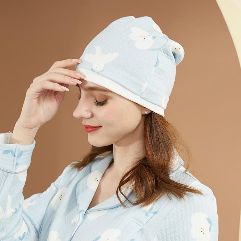 咕羊羊防风月子帽产后秋冬产妇帽非头巾发带春秋季孕妇坐月子帽子