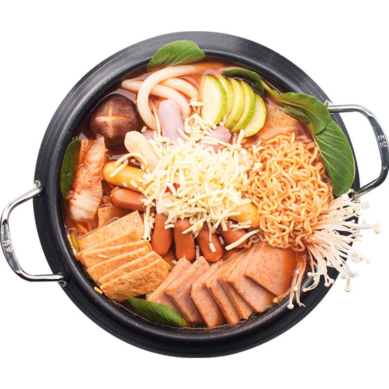 韩式部队火锅食材组合套餐部队锅材料底料马克定食芝士年糕火锅
