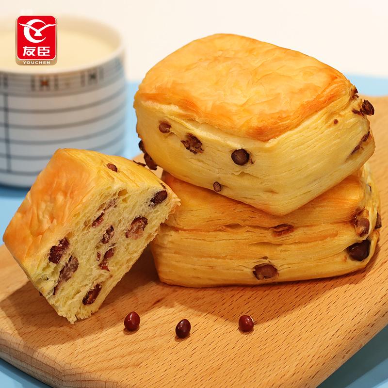 友臣红豆手撕面包千层方酥营养学生早餐食品零食孕妇小吃糕点整箱 No.3