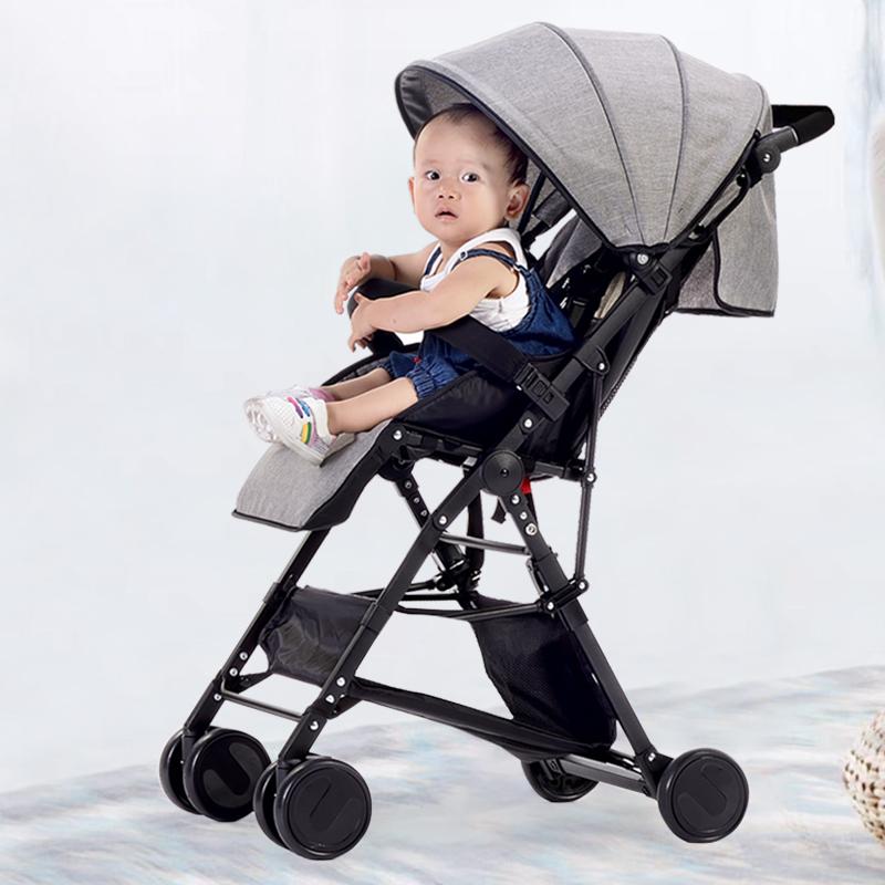 宓驰婴儿推车可坐可躺轻便折叠简易小孩宝宝bb高景观避震手推伞车