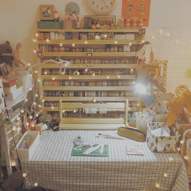 包郵和紙膠帶收納架文具mt收納櫃玩具實木定製定做原木 木質手賬