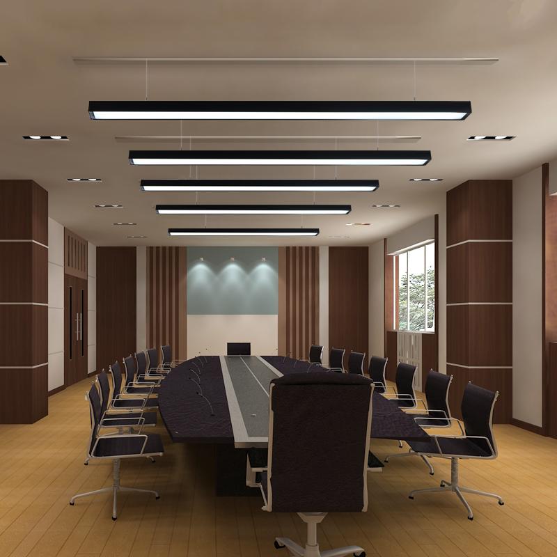 办公照明办公室吊灯健身房长条形吊线灯工作室铝方通吊顶灯具 LED