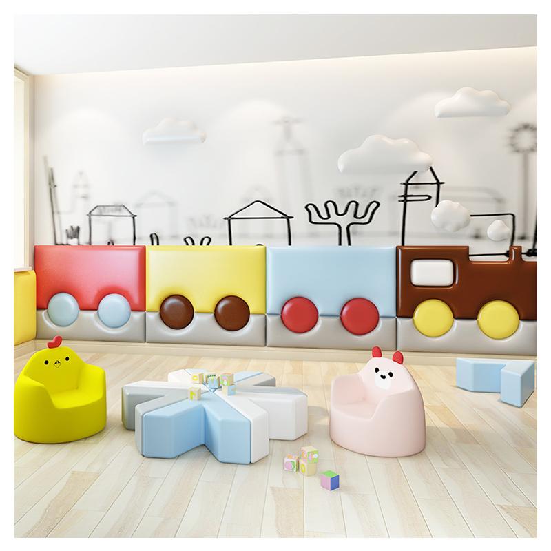 幼儿园宝宝儿童榻榻米床头板婴儿防撞墙贴墙垫软包墙围背景墙自粘