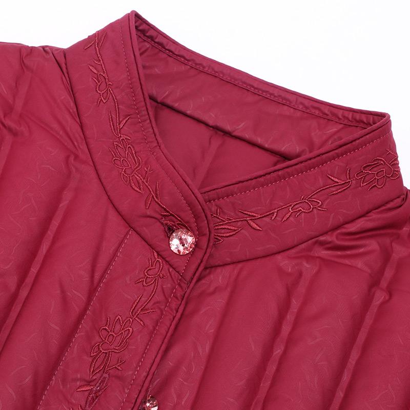 雅鹿中老年羽绒服内胆秋冬轻薄修身短款大码保暖老年人妈妈羽绒衣