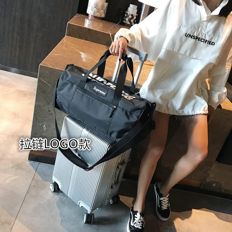 健身运动包男防水训练包女短途大容量行李袋单肩手提旅行背包鞋位