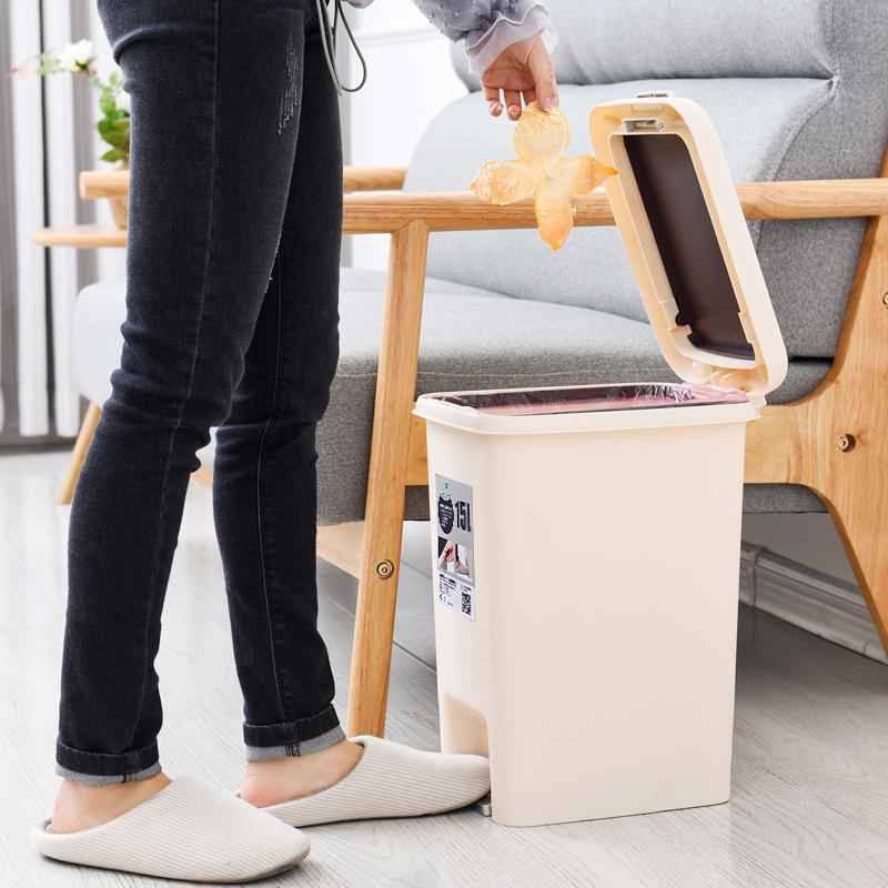 脚踏带盖垃圾桶家用有盖创意圾卫生间客厅分类式厨房厕所脚踩大号