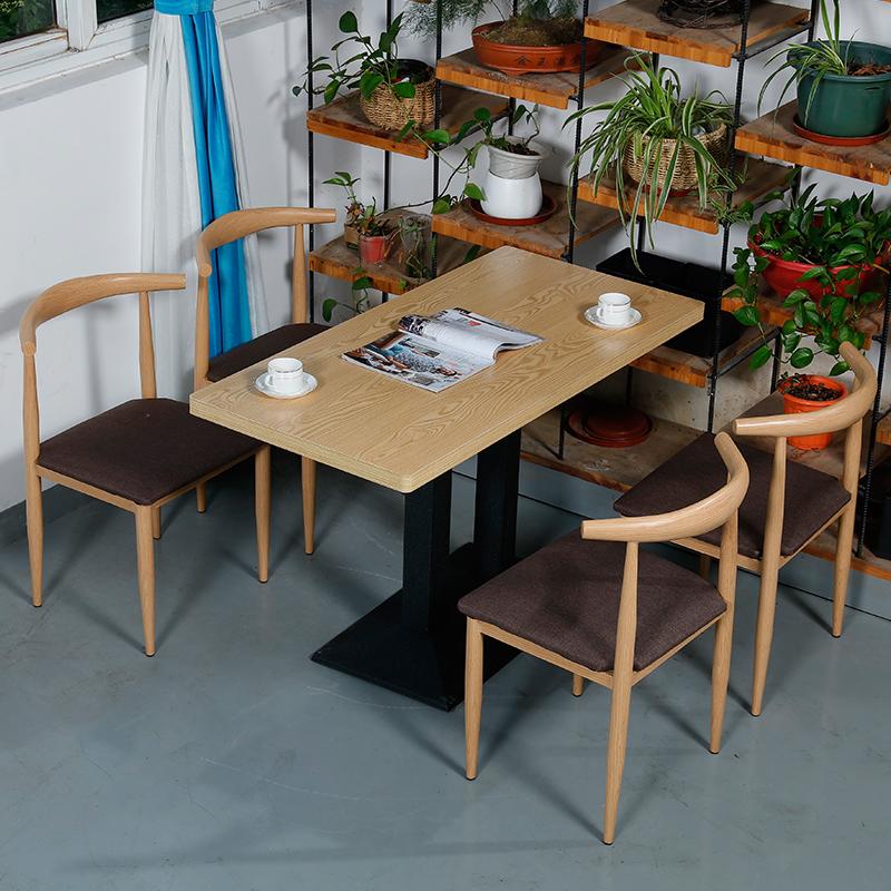 餐椅饭店西餐厅牛角椅