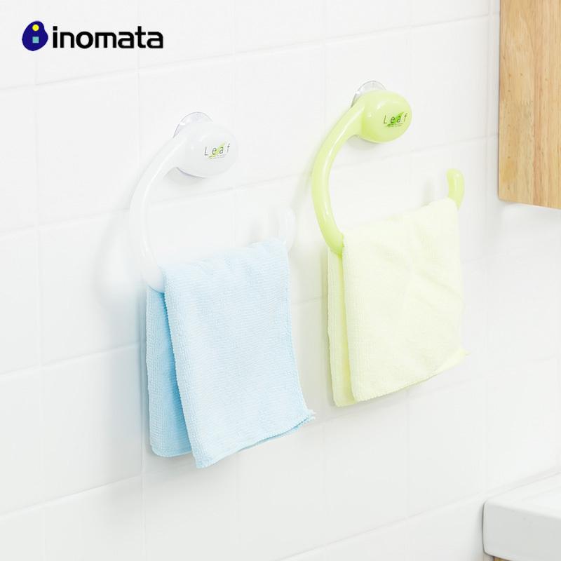 日本進口免打孔毛巾架浴室吸盤掛鉤毛巾掛鉤衛生間吸壁式掛毛巾架