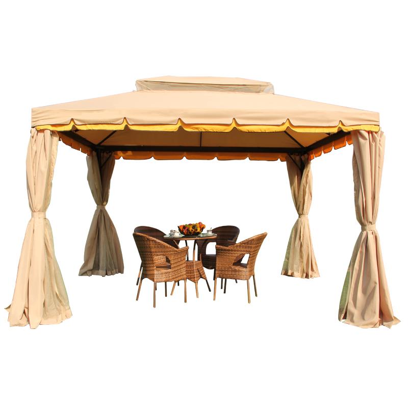 遮阳棚户外庭院花园休闲展销婚庆广告商用四角伞摆摊欧式罗马帐篷