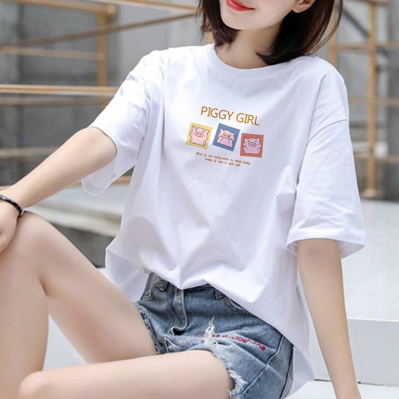 2021新款大小童情侣纯棉短袖T恤