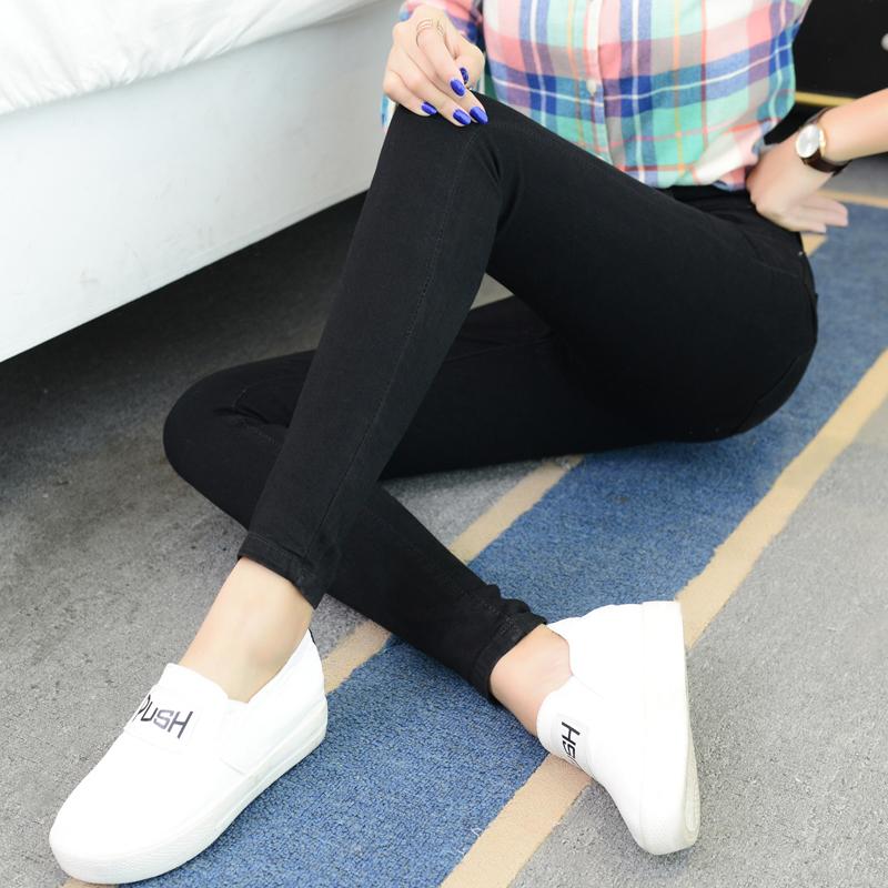 高腰加绒加厚牛仔裤女2019秋冬季新款小脚裤显瘦大码胖mm紧身长裤
