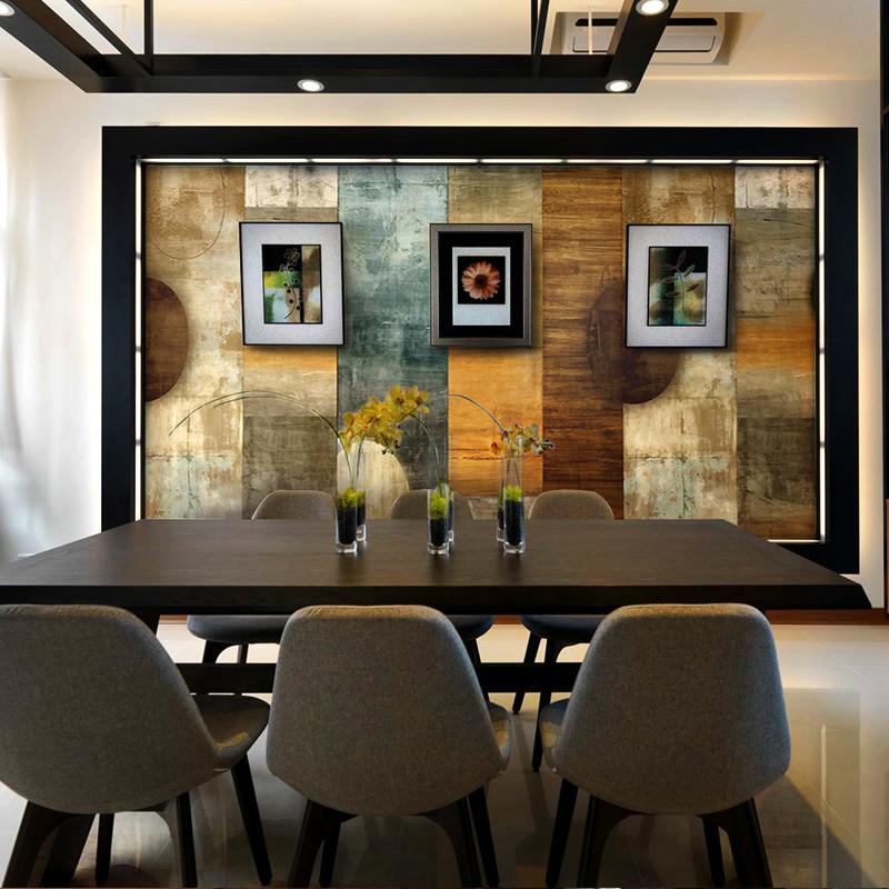 艺速定制无缝墙布壁画无纺布墙纸客厅抽象电视背景墙壁纸印象日出