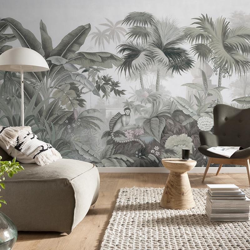 艺速美式乡村东南亚风景花鸟定制壁画无纺布壁纸背景墙纸安达曼岛