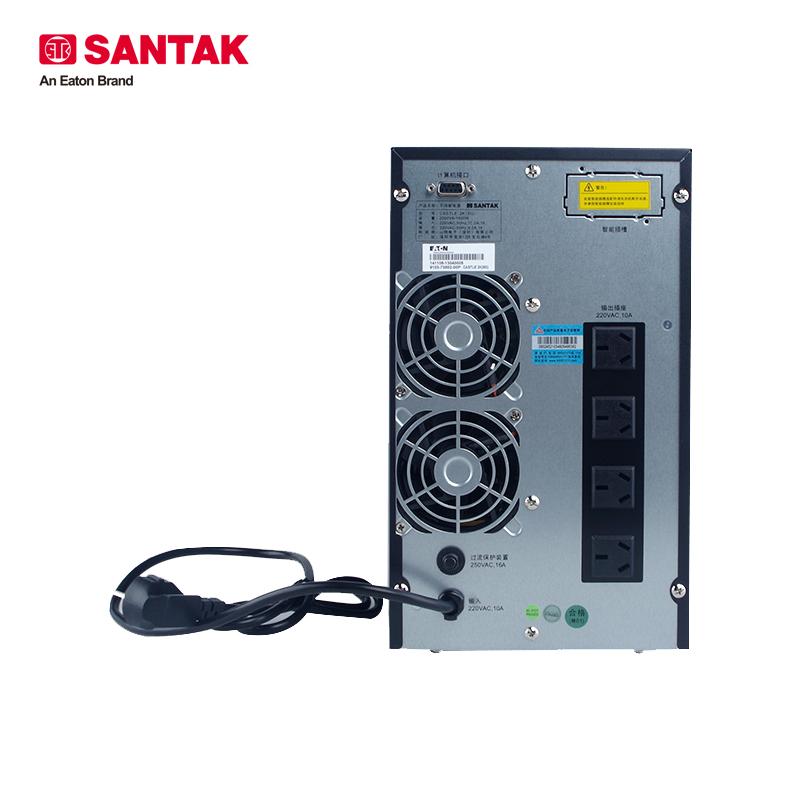 山特C2K UPS不间断电源 2KVA/1600W 在线式 内置电池