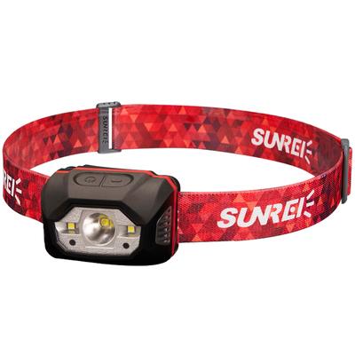 山力士强光感应头灯超亮越野露营徒步登山充电头戴式户外头灯防水
