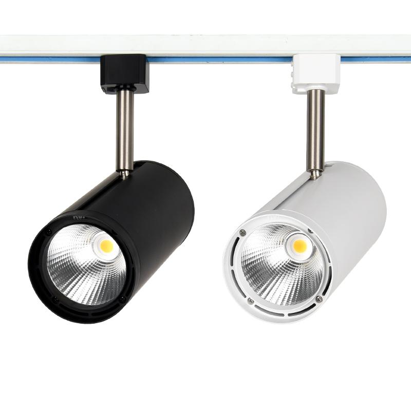 雷士照明led轨道射灯明装导轨灯商业服装店铺展厅COB天花灯24W35W