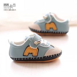 春秋季婴儿步前小鞋子6-12个月9男宝宝软底学步单鞋皮面女0一1岁8