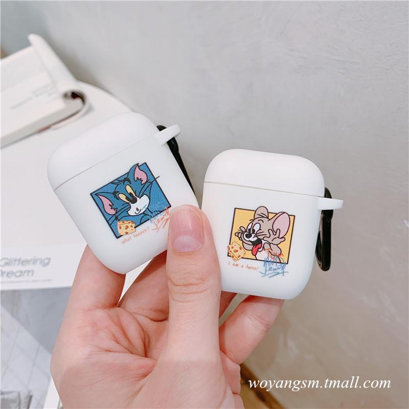 卡通Airpods蘋果無線藍牙耳機保護套airpods2耳機充電盒白色軟殼可愛ins原創iPod硅膠通用潮aripods