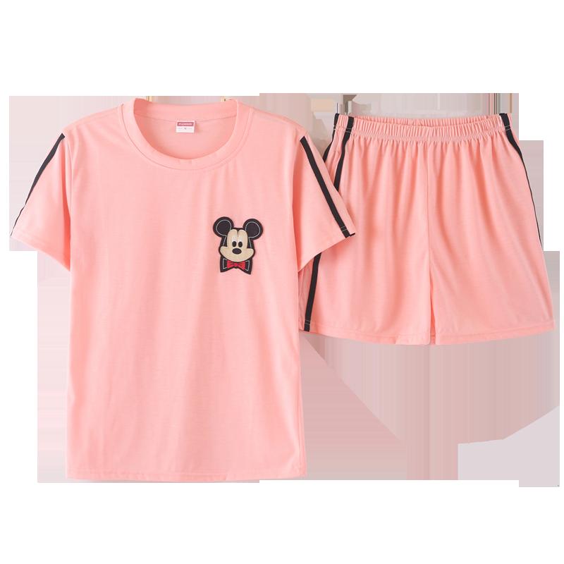 睡衣女夏套装短袖女士两件套纯棉夏天韩版薄款清新学生夏季家居服