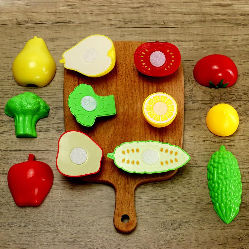 儿童切水果玩具扮家家酒组合蔬菜男孩女孩宝宝切菜西瓜切切乐套装