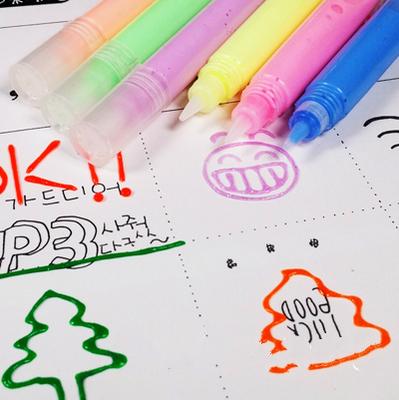 包邮韩国神奇爆米花笔夜光泡泡笔泡沫笔果冻笔创意3D立体笔DIY笔