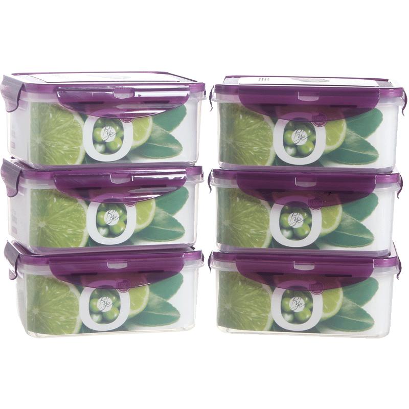 塑料长方形保鲜盒套装微波炉饭盒食品密封盒便当盒冰箱整理收纳盒