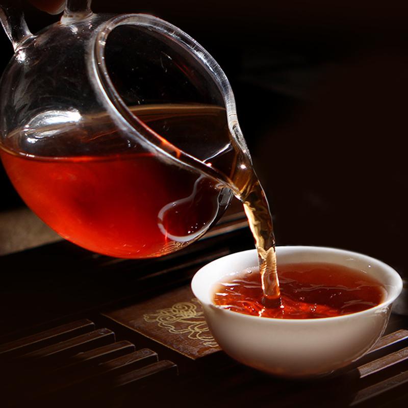 克古老树春茶云南勐海七子饼熟茶越陈越香 357 十年陈普洱茶熟茶