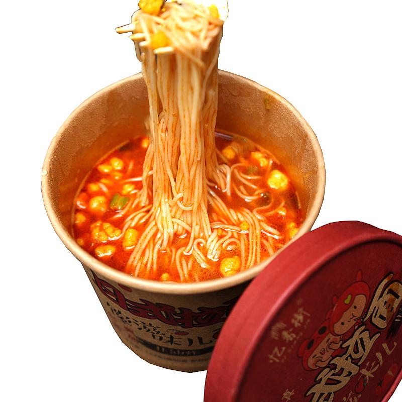 忆香街番茄拉面 番茄鸡蛋面 非油炸 网红冻干方便面杯面速食6桶装