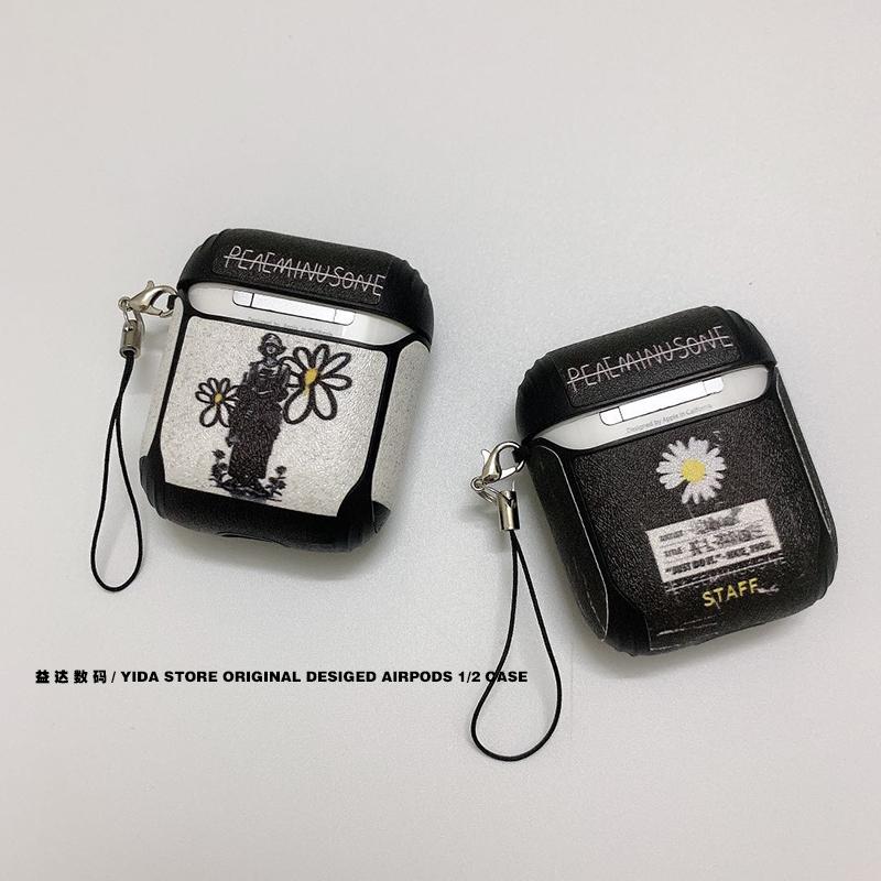 潮牌权志龙airpods1/2代硅胶保护套适用个性苹果无线蓝牙耳机软壳