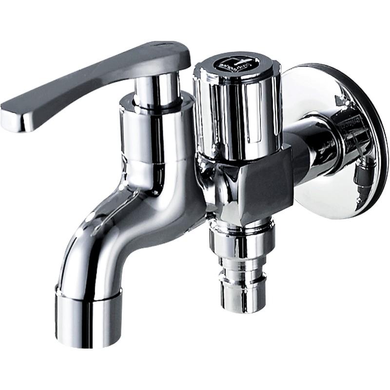 潜水艇一进二出三通洗衣机水龙头分流器一分二双头双用双出水两用