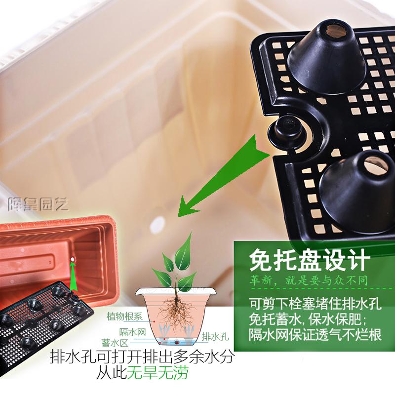 爱丽丝花盆长方形塑料特大号爱丽思壁挂种植蔬菜多肉盆栽阳台种菜