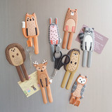 Cute cartoon animals creative fridge magnet linked to the Nordic powerful magnet linked to a key message board photo magnets